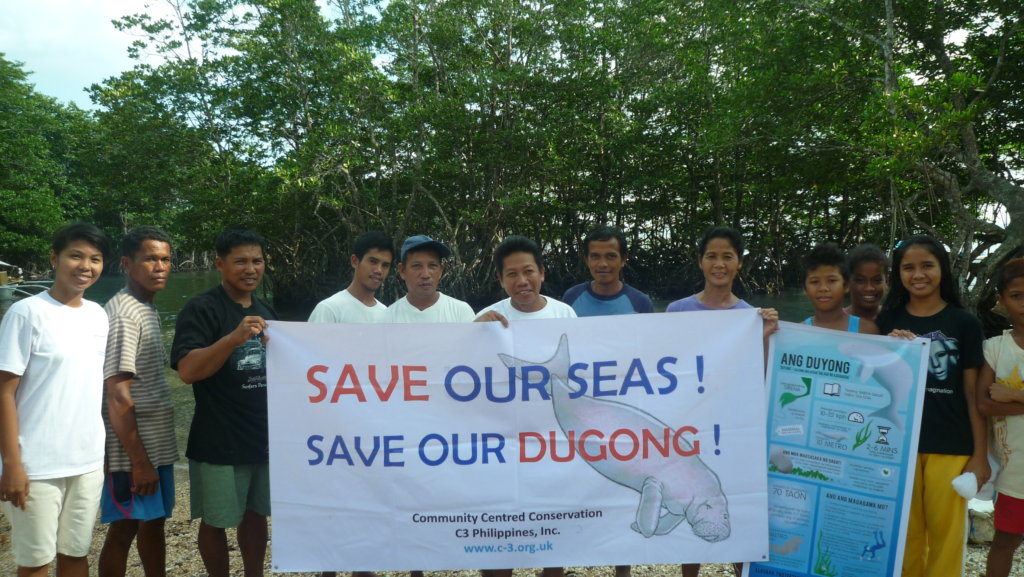 Local fishermen at campaign to save dugongs