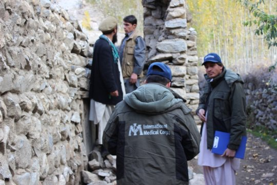 Assessments in Badakhshan following the quake