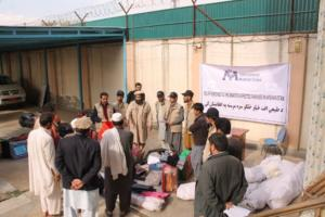 Relief supply distribution in Afghanistan