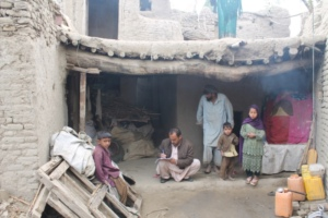 Assessing needs for an earthquake-affected family