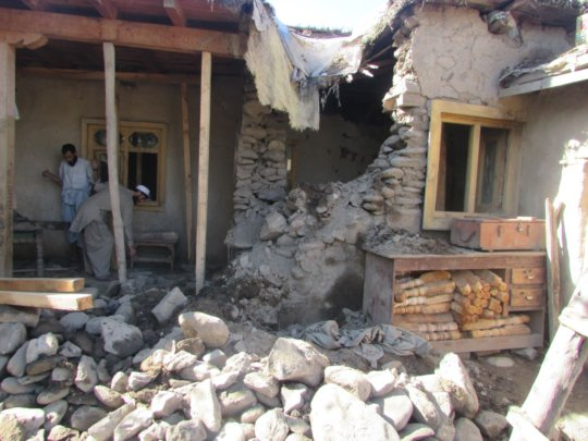 Earthquake damage in Afghanistan