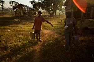 Morning chores at Tudabujja, Retrak's Halfway Home