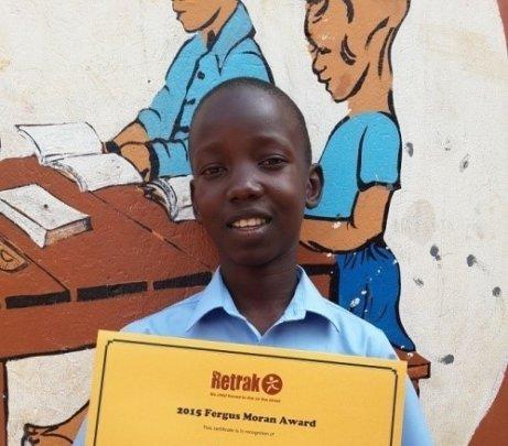 Mutubazi receives the 2015 Fergus Moran Award