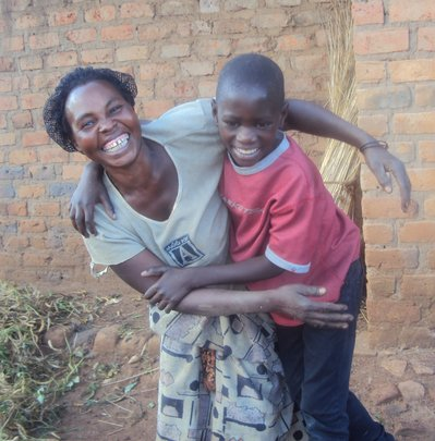 Mother and son happily reunited