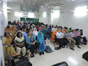 Attendees at the master class in Dhaka