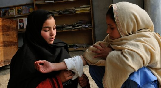First Aid training in local schools, KP Province