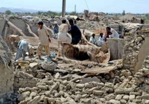Earth Quick affected village