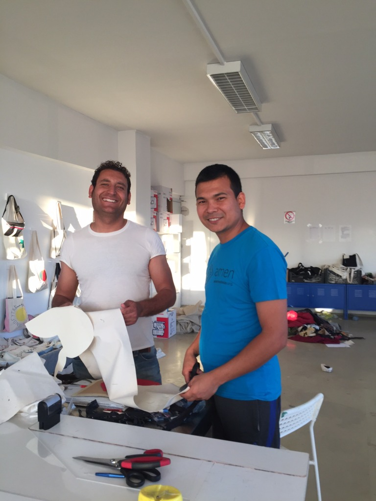 Some of our Sewing Center workers