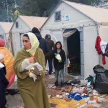 Temporary Shelter in Lesvos, Greece
