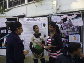 Sahiba speaks with interested participants