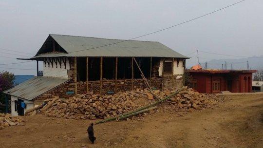 Damaged building before repairs