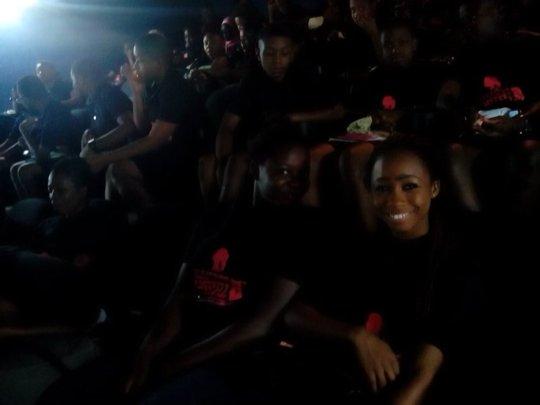 Girls in the cinema