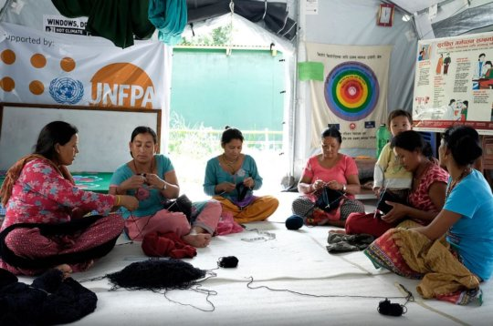 Women learning income generating activities