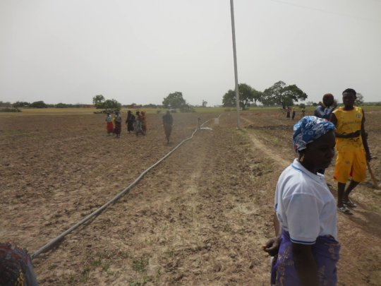 View of the solar power irrigation system, Koungy