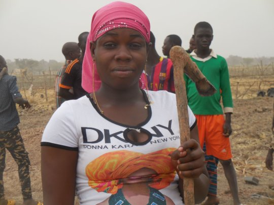 Fatoumat, a member of cooperative
