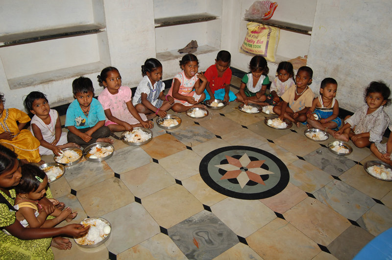 Provide Midday Meals for poor Children in Creches