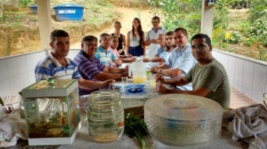 Having lunch with our guests