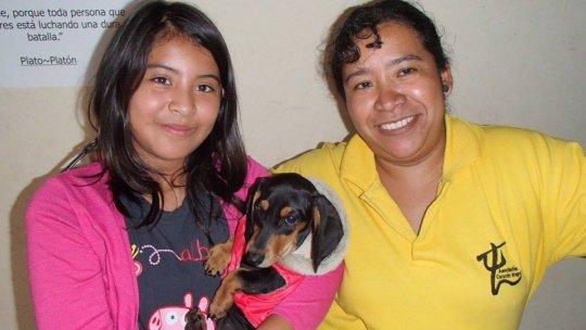 Saida, Tasha and Dona Mari our social worker
