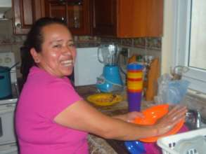 Moma Sonia hard at work in the kitchen