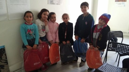 Gift of Schoolbags with Education Kits