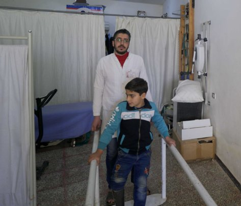 Finally able to walk (Copyright: Islamic Relief)