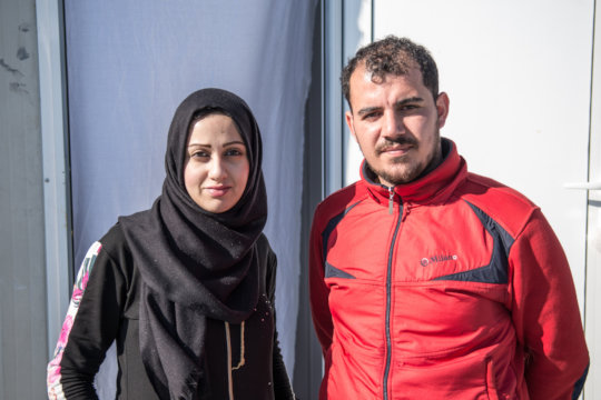 Marwa and Odey had to flee from the war in Syria