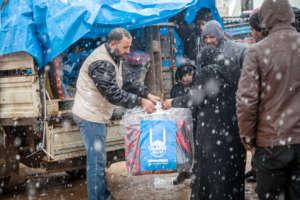 winter clothes distribution in Aleppo/Syria