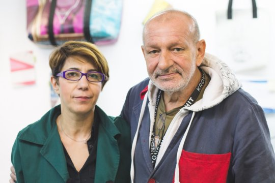 Doru and his boss, Roxana