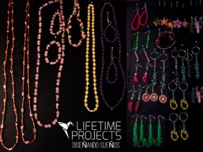 Jewelry made by the girls