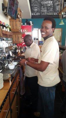 Yona at Kokos restaurant during his internship