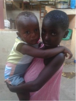 Mary and Ngina after being rescued