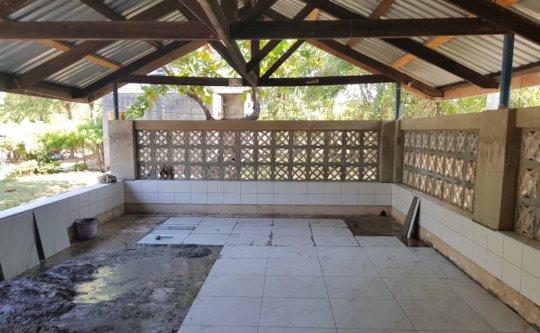 Tiling dining room floor