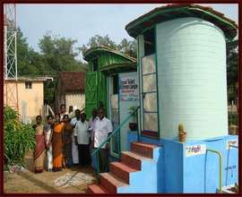 Toilets for 3  rural schools  in Southern India