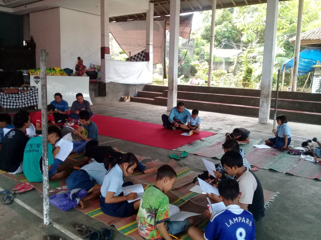 First semester exams at the evacuation camp
