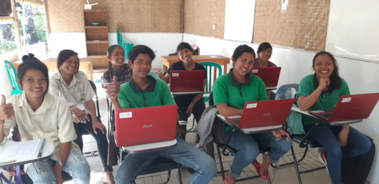 Learning EMpower computer class at EBPP camp