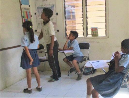 EBPP children study hard for the exams