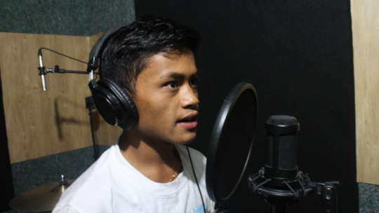 Song recording to deliver the messages to public