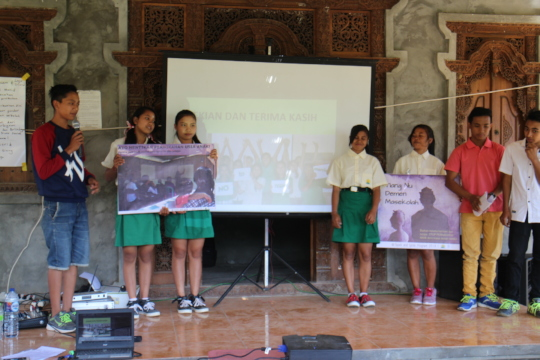 Students presentation about school drop out