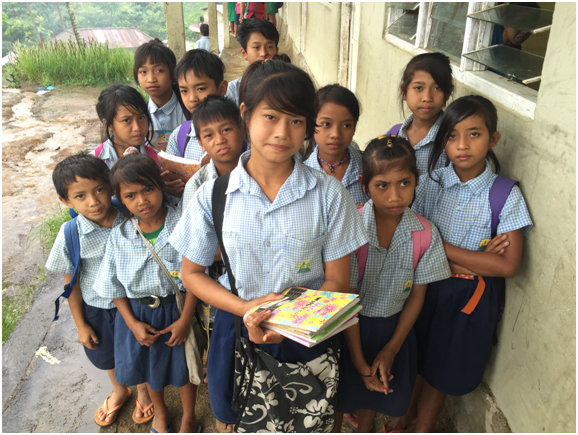 Ketut and her friends, dreaming of a better future