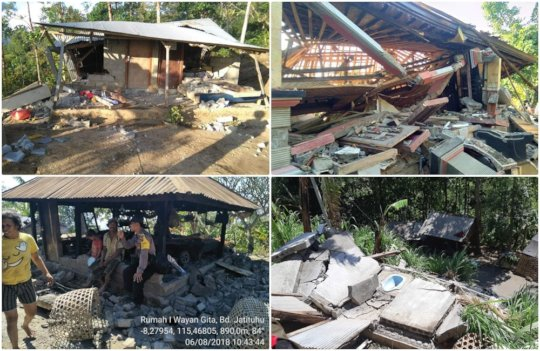Lombok Earthquake affected East Bali village