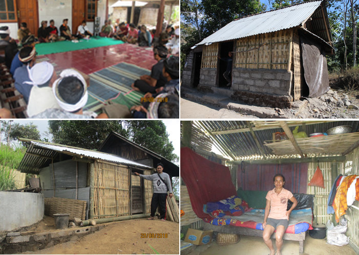Temporary homes for earthquake victims