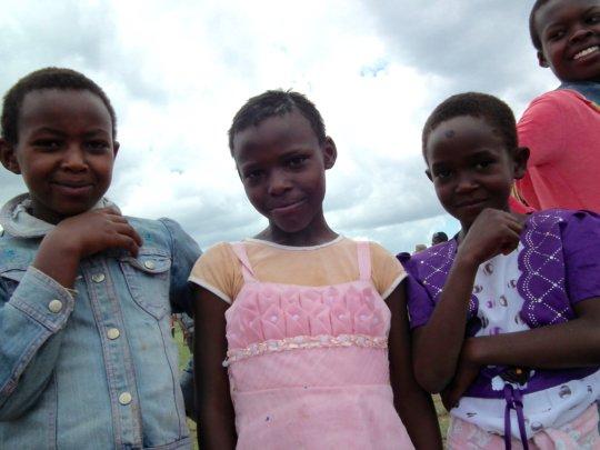 Children attending the Maasai Olympics