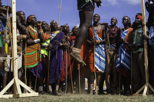 High jump at the Maasai Olympics (Gurveer Sira)