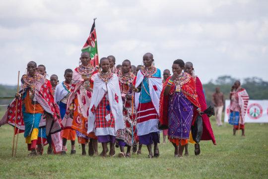Women attending the Maasai Olympics
