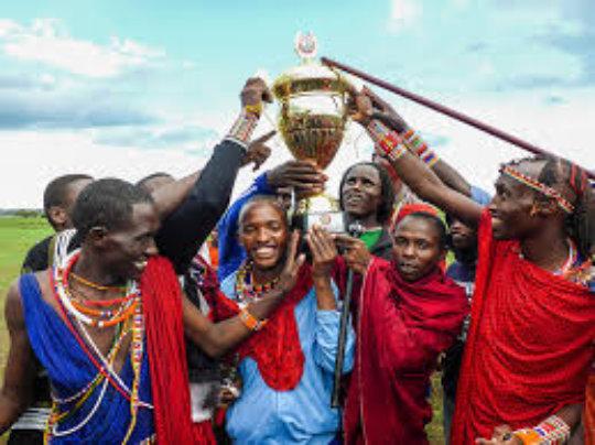 Maasai Olympics - Winners Celebration