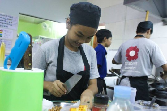 Sandan, vocational training restaurant
