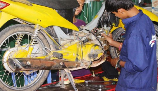 Learning motorbike repair