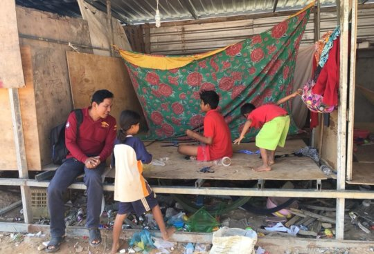 Meeting children living at construction sites
