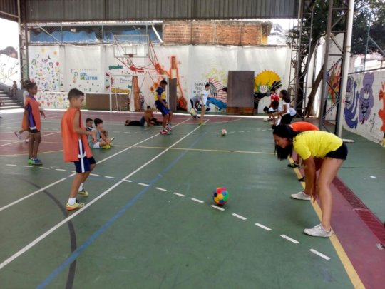 Futsal activity carried out by the young leaders