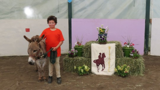 A portrait with Mr. Jingles, the Donkey